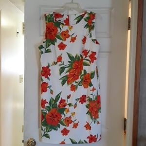 2/$25-Kim Roger's orange green floral 18 dress